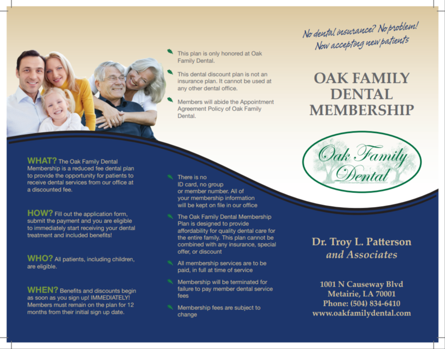 oak family dental membership