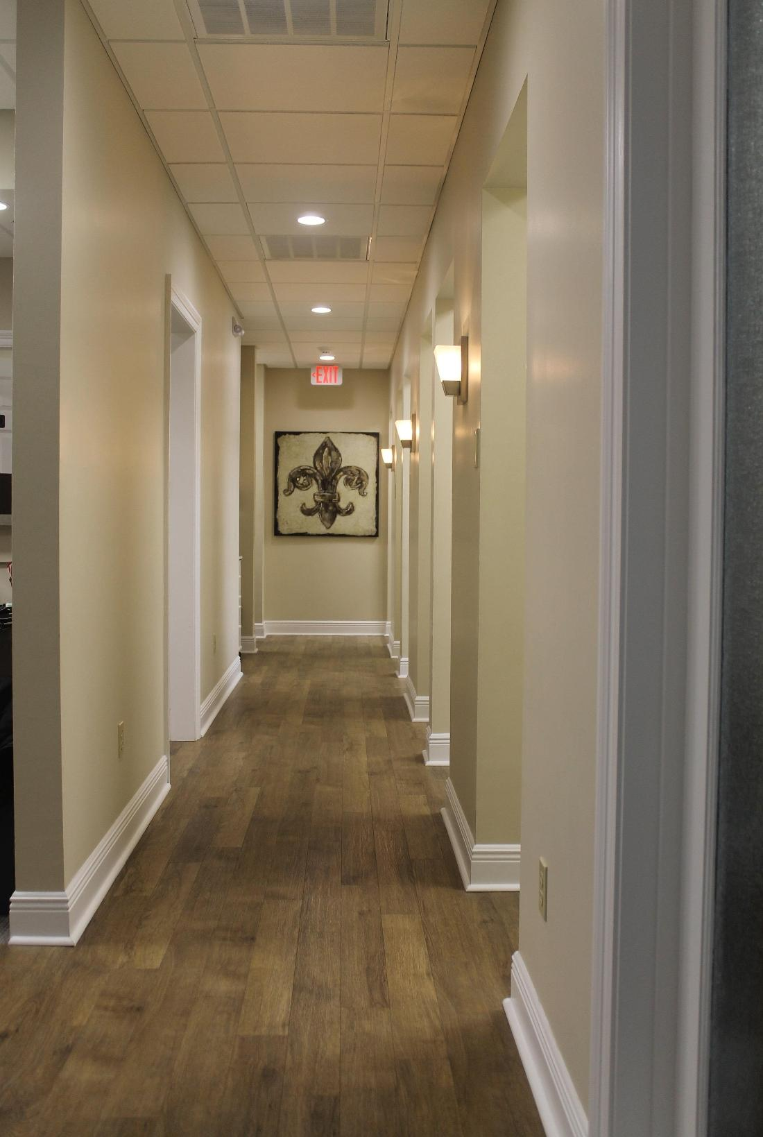 hallway at Oak Family Dental | dentist metairie la