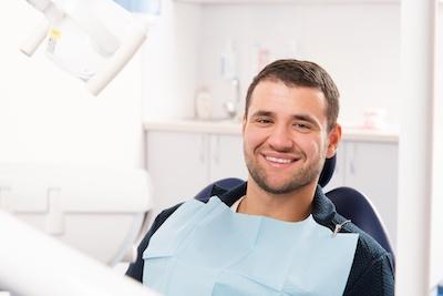 man during preventative dentistry exam in metairie